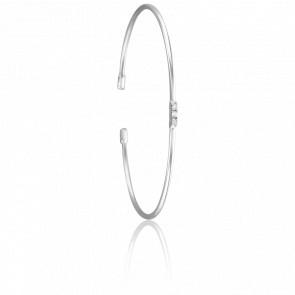 Bracelet Jonc Lovely Argent & Diamant