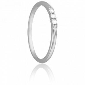 Bague Demi Jonc Lovely Argent & Diamant