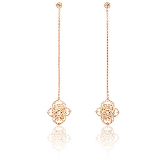 Boucle oreille or rose