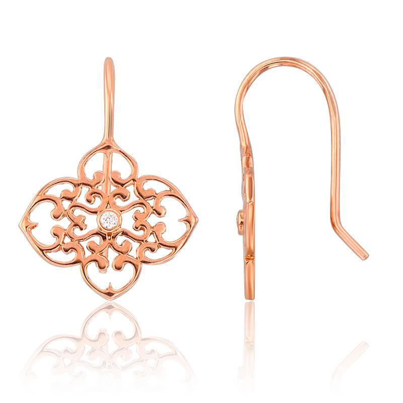 Boucles d'oreilles dormeuses or rose