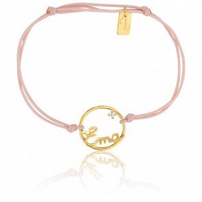 Bracelet prénom personnalisé Ema Or Jaune 9K