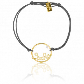 Bracelet prénom personnalisable Sacha Or Jaune 9K