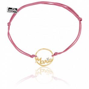 Bracelet prénom personnalisable Marie Or Jaune 9K