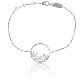 Bracelet prénom personnalisé Marie Or Blanc 9K