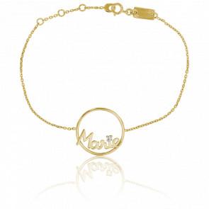 Bracelet prénom personnalisé Marie Or Jaune 9K