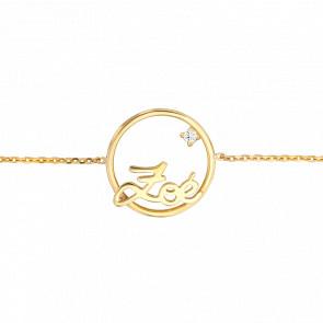 Bracelet PM Cercle Zoé Or Jaune