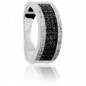 Bague Moho Tani Diamants Noirs & Blancs - Emanessence