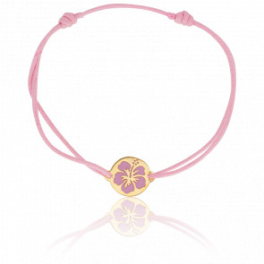 Bracelet Hibiscus 13 mm Or Jaune 18K