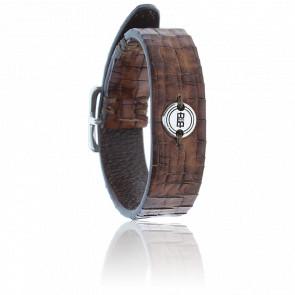 Bracelet Allard Structured Leather - Brown