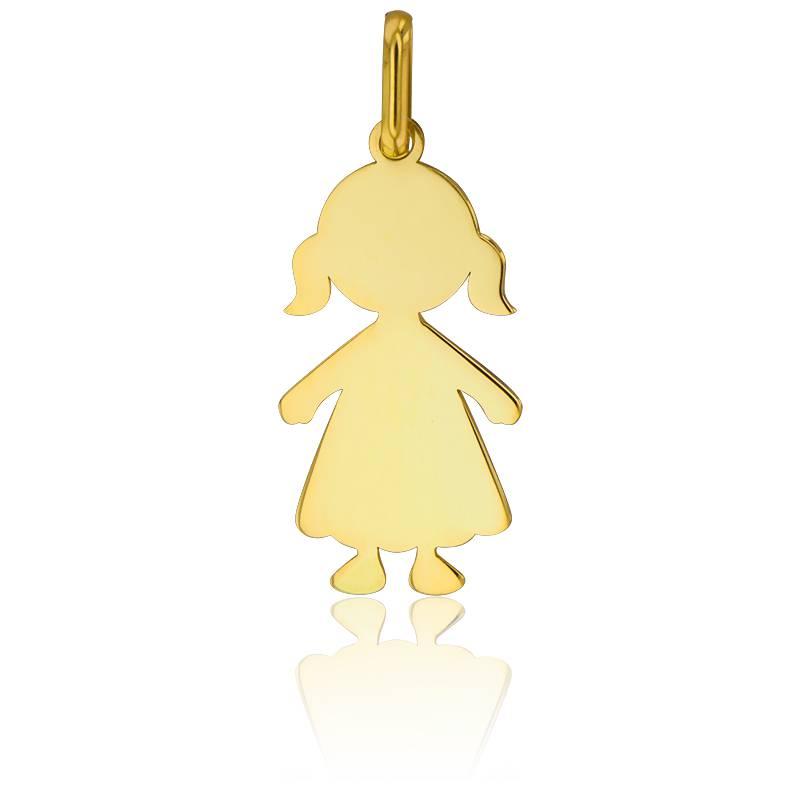 pendentif petite fille or jaune 18k lucas lucor ocarat. Black Bedroom Furniture Sets. Home Design Ideas