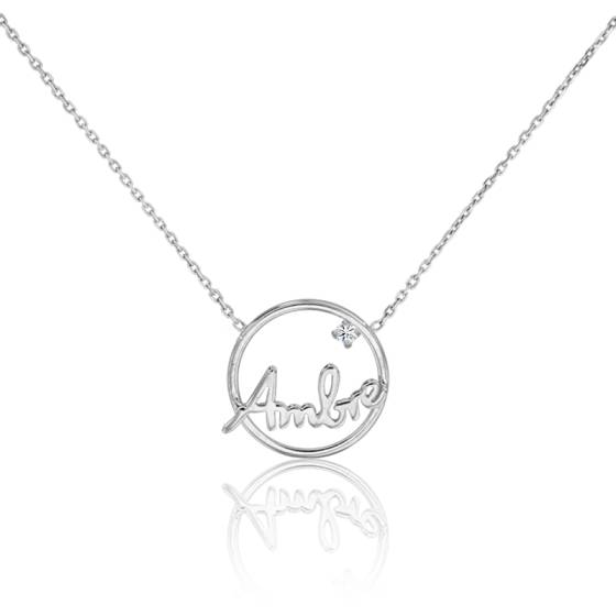 collier prenom enfant or blanc
