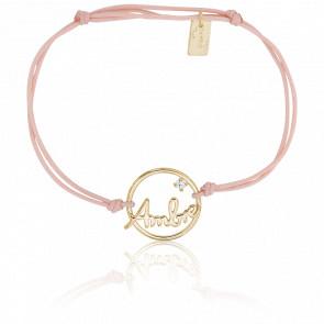 Bracelet Cordon Ambre Or Jaune
