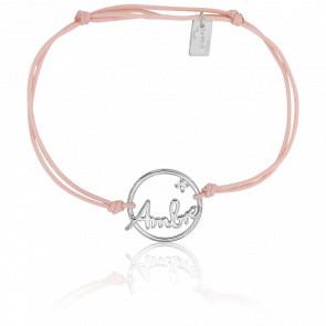 Bracelet prénom personnalisé Ambre Or Blanc 9K