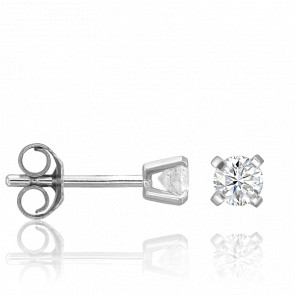 Puces d'Oreilles 4 griffes 0,20 carat HSI - Collection by Ocarat Paris