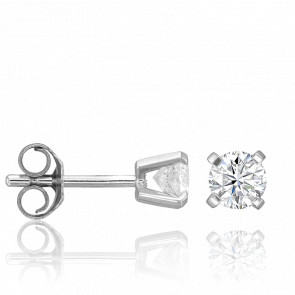 Puces d'Oreilles 4 griffes 0,40 carat HSI - Collection by Ocarat Paris