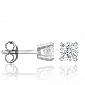 Puces d'Oreilles 4 griffes 0,80 carat HSI - Collection by Ocarat Paris