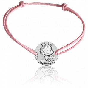 Bracelet Médaille Curieuse Or Blanc 9K