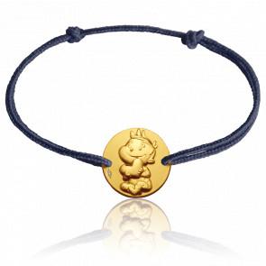 Bracelet Médaille Rêveur Or Jaune 9K