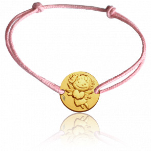 Bracelet Médaille Précieuse Or Jaune 9K