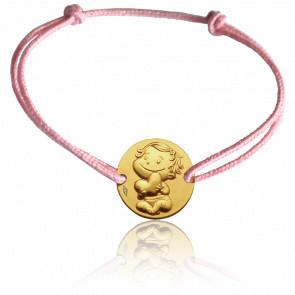 Bracelet Médaille Câline Or Jaune 9K