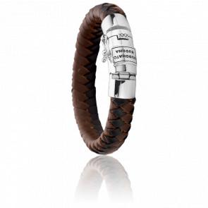 Bracelet Ben Leather Mix - Black and Brown