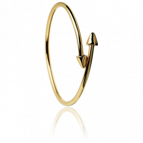 Bracelet Jonc Double Flèche Plaqué Or Jaune