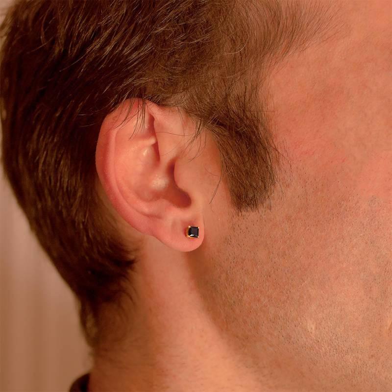 Boucle d'oreille homme orange