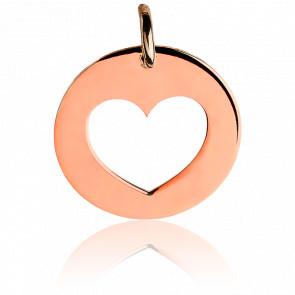Médaille Coeur Argent Plaqué Or Rose