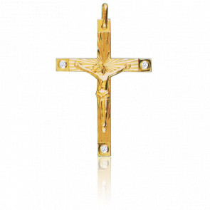 Christ en Croix 34 x 45 mm  Or Jaune 18K