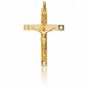Christ en Croix 34 x 45 mm  Or Jaune 9K