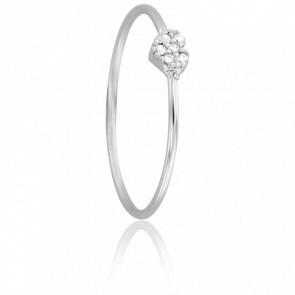 Bague Coeur Diamanté Or Blanc 18K