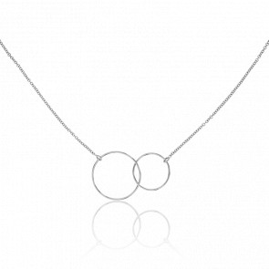 Collier Cercles Or Blanc