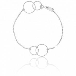 Bracelet Cercles Or Blanc