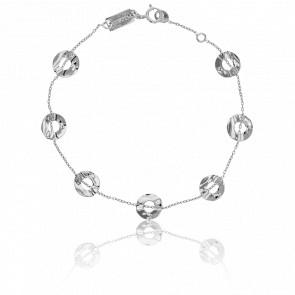Bracelet Pastilles Ajourées Or Blanc - Scarlett or Scarlett