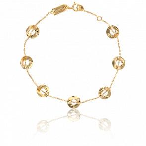 Bracelet Pastilles Ajourées Or Jaune