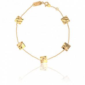 Bracelet Carrés Froissés Or Jaune
