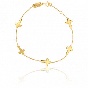 Bracelet Croix Or Jaune - Scarlett or Scarlett