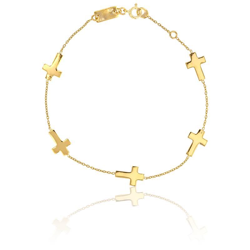 bracelet croix en or jaune 9 carats scarlett or scarlett ocarat. Black Bedroom Furniture Sets. Home Design Ideas