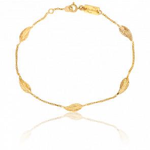 Bracelet Plume Or Jaune 9K