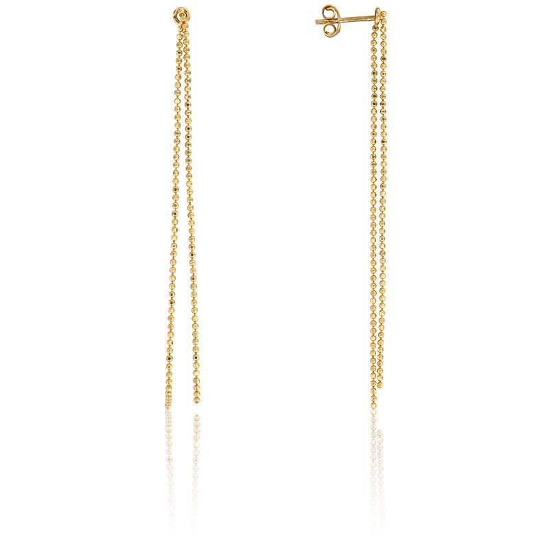 boucles d 39 oreilles chaines en or jaune 9 carats scarlett. Black Bedroom Furniture Sets. Home Design Ideas
