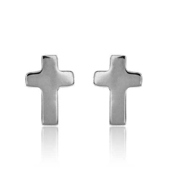 Boucle d'oreille homme croix suisse