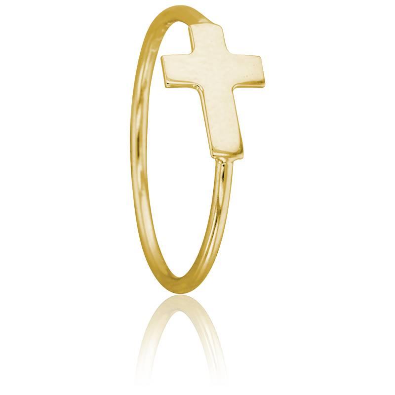 bague croix en or jaune 9 carats scarlett or scarlett ocarat. Black Bedroom Furniture Sets. Home Design Ideas