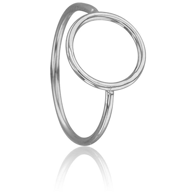 bague cercle vid en or blanc 9 carats scarlett or. Black Bedroom Furniture Sets. Home Design Ideas