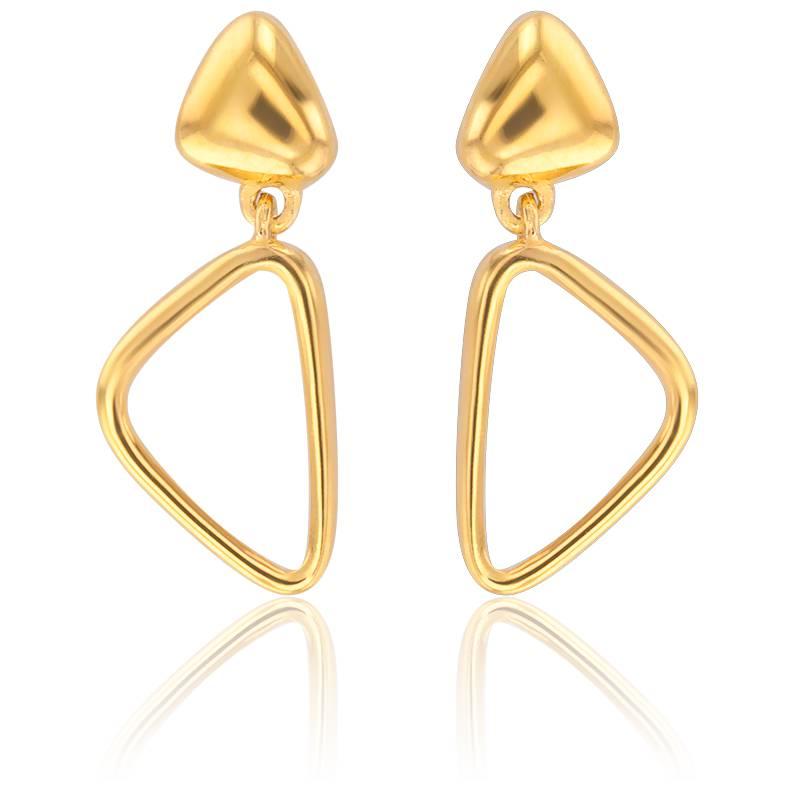 boucles d 39 oreilles triangle et or jaune 18 carats. Black Bedroom Furniture Sets. Home Design Ideas