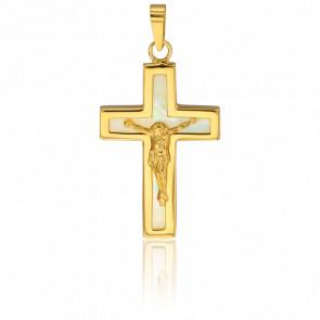 Pendentif Croix Christ Or Jaune 9 Carats