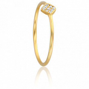 Bague Losange Diamanté Or Jaune 18 Carats