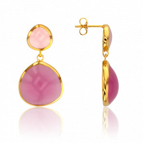 Boucles d'Oreilles Mix Rose Collection Artemis