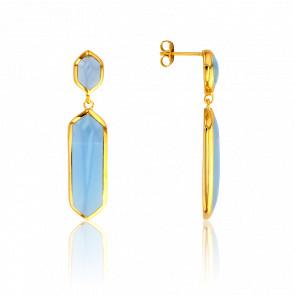 Boucles d'Oreilles Bleu Clair Collection Vesta