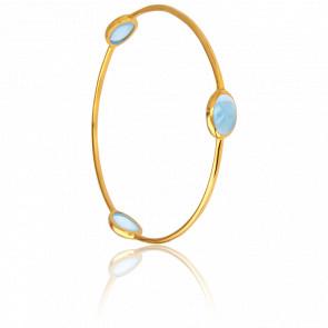 Bracelet Jonc Bleu Clair Collection Artemis