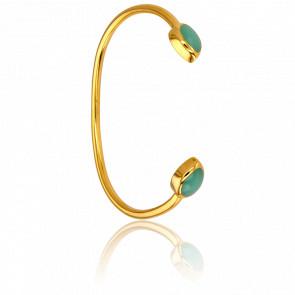 Bracelet Demi-Jonc Calcédoine Verte Collection Artemis